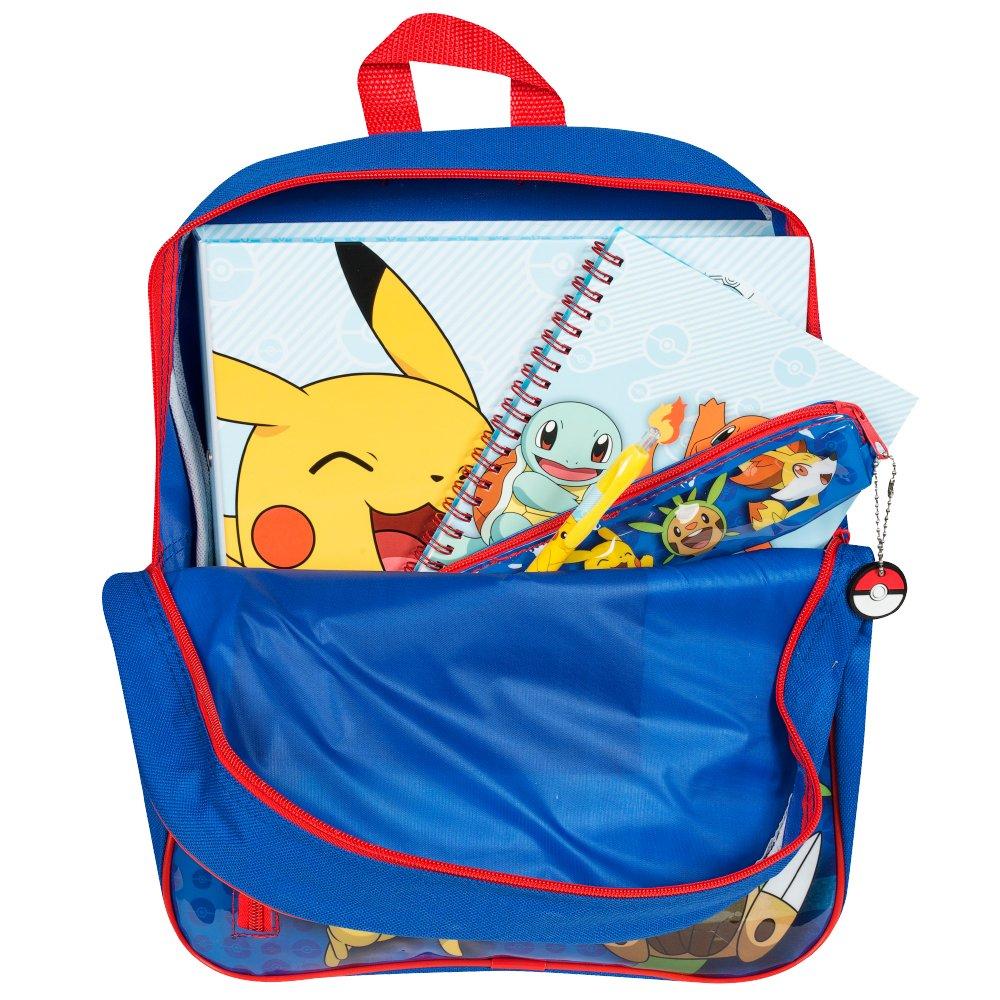 Pikachu froakie Fennekin /& chespin 36/cm Sac /à Dos avec Stationery Set