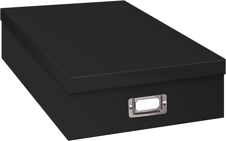 Pioneer Jumbo Scrapbook Storage Box, Black, 14.75 Inch x 13 Inch x 3.75 Inch