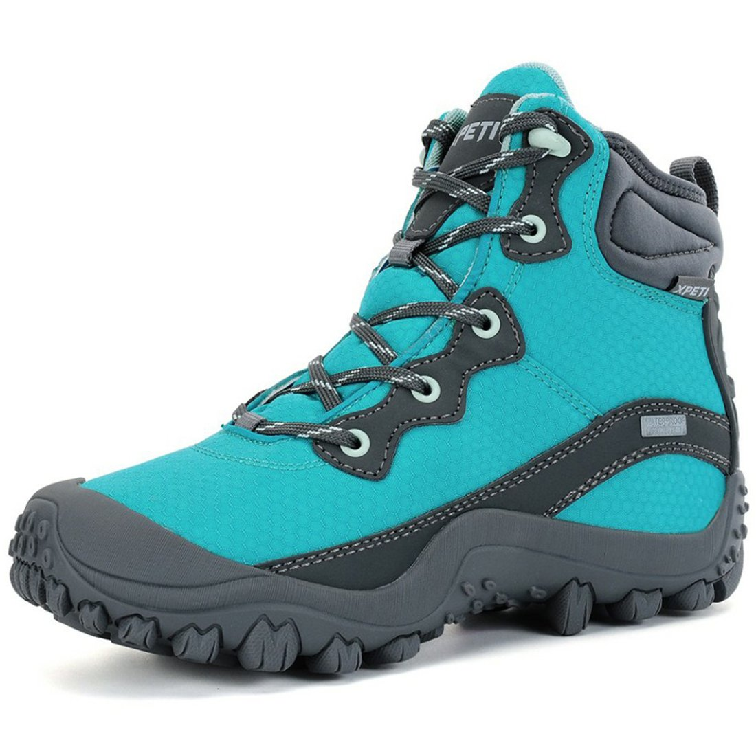 XPETI Women's Dimo Mid Waterproof Hiking Outdoor Boot Blue 10 by XPETI