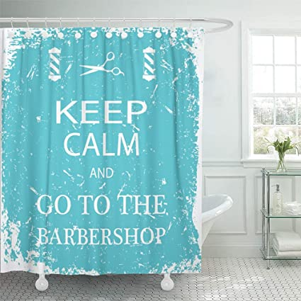 Emvency Shower Curtain Waterproof Decorative Bathroom 72 X Inches Red Antique Cool Keep Calm And