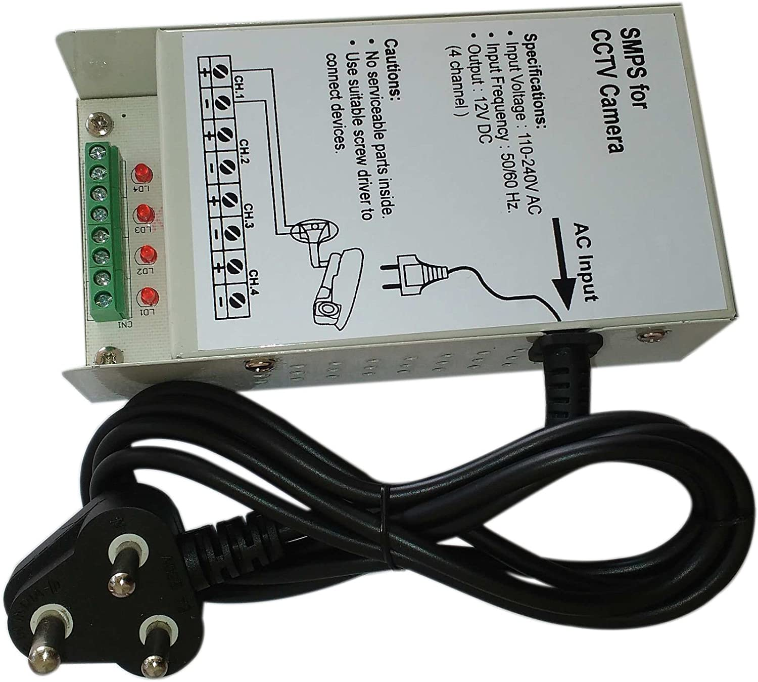 Amazon.in: Buy Bvslf 4 Channel Smps For CCTV / Surveillance / Spy ...