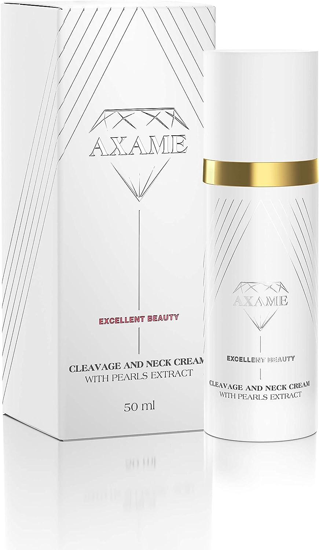 Axame - Crema HIdratante Prémium Hipoalergénica Para Cuello y Escote con Extracto de Perlas y Efecto AntiEnvejecimiento 50 ml