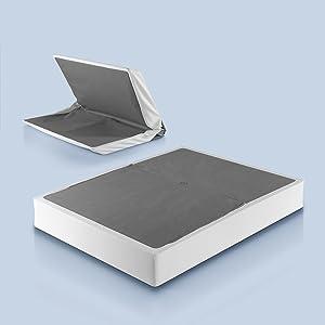 Zinus Jayanna 9 Inch BiFold Box Spring / Mattress Foundation / Zero Assembly / Sturdy Metal Structure / High Profile, Queen