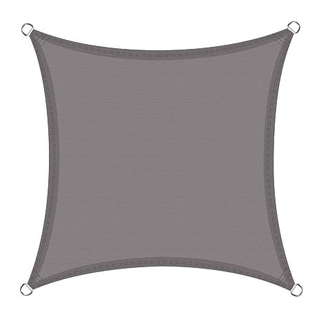 Cool Area Toldo Vela de Sombra Impermeable Cuadrado 3 x 3 Metros protección UV, Color