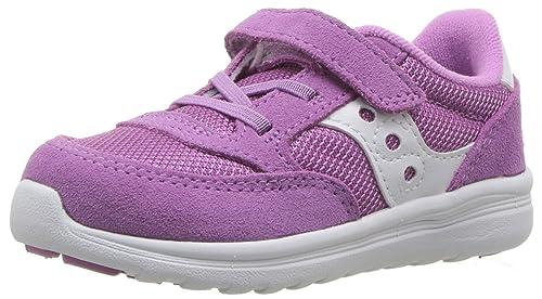 ceaa85516 Saucony Girls' Baby Jazz Lite Sneaker, Purple, 4 Wide US Toddler