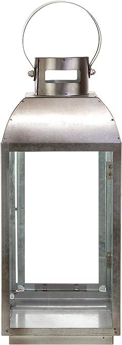 Kiera Grace kieragrace Muskoka Travis Galvanized Grey 6 13.5-Inch Lantern CA30127-7INT