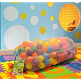 """EnviUs Cushy Pit Balls - Royals : 6.5 CM """"Phthalates Free"""" and Crush Proof : 7 Colors: Red, Orange, Yellow, Green, Purple, Blue, Pink"""