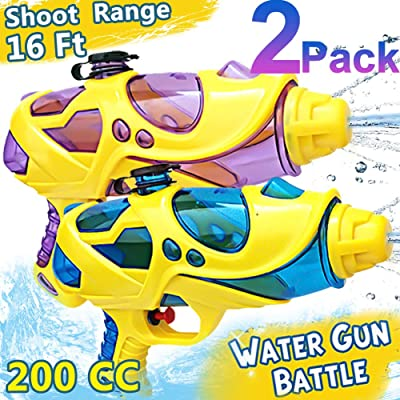 2 Pack Kid Water Gun,Water Squirt Guns for Kids 200 cc 16ft Distant Soaker Blaster Gun Summer Outdoor Toy for Swimming Pools Party Favor Beach Sand Water Fighting (Kid Water Gun): Toys & Games
