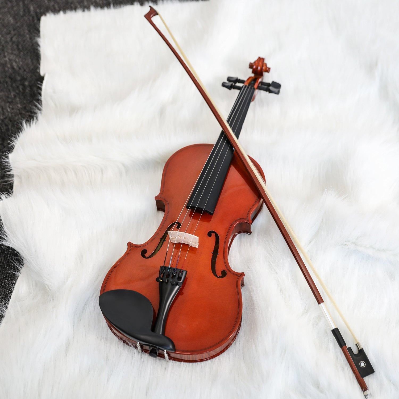 Shoulder Rest Rosin Bow Clip-on Tuner and Extra Strings Eastar EVA-1 1//2 Natural Violin Set For Beginner Student with Hard Case