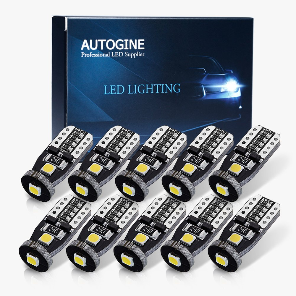 AUTOGINE 4pcs CAN-Bus Error Free 6418 6411 6461 DE3425 C5W LED Bulbs Festoon 36MM 1.5 Xenon White 3014 27-EX Chipsets for Car Interior Dome Map Door Courtesy License Plate Lights