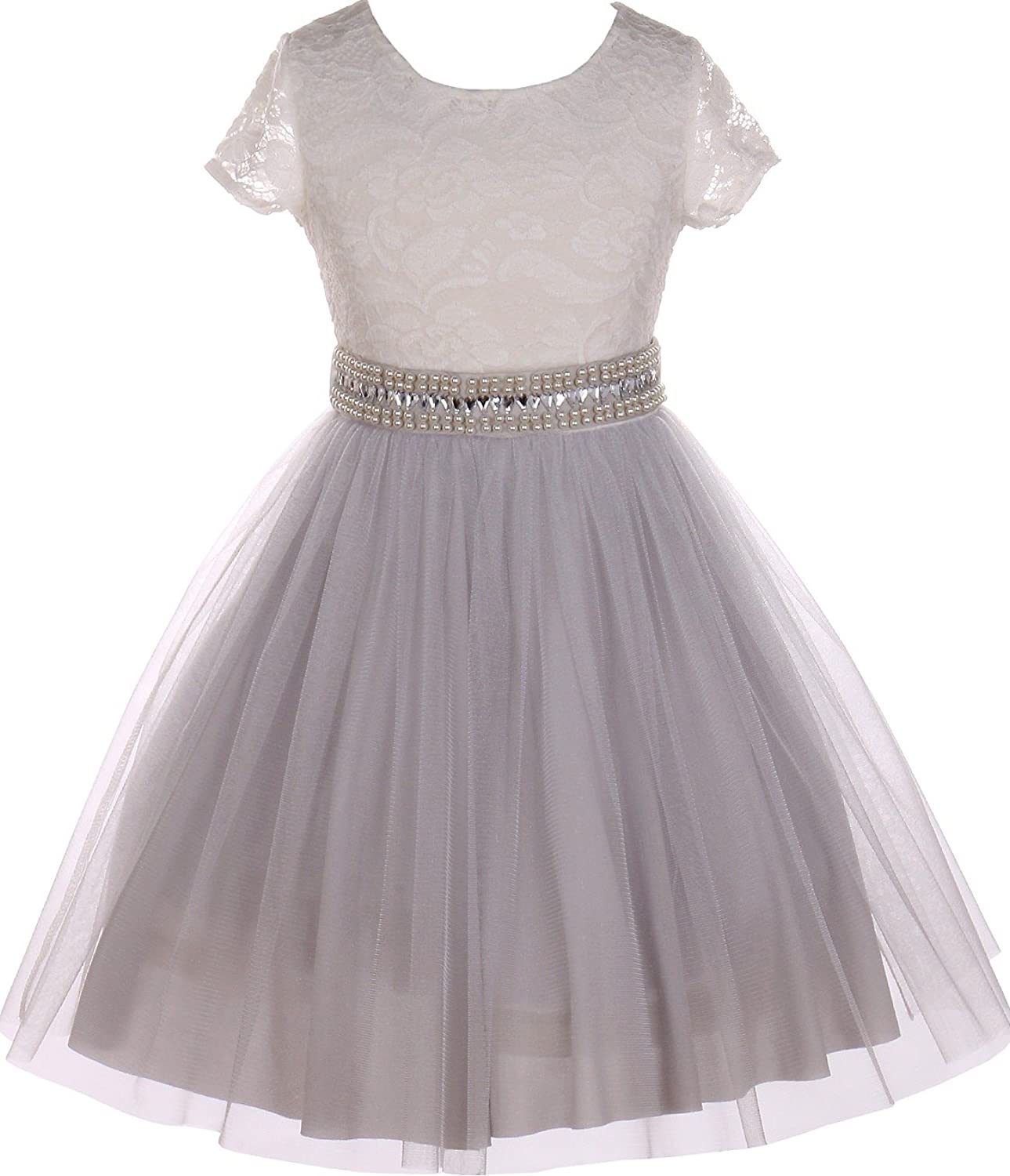 Flower Girl Dress Beautiful Overlay Shiny Mesh Skirt Special Occasion Easter Pageant