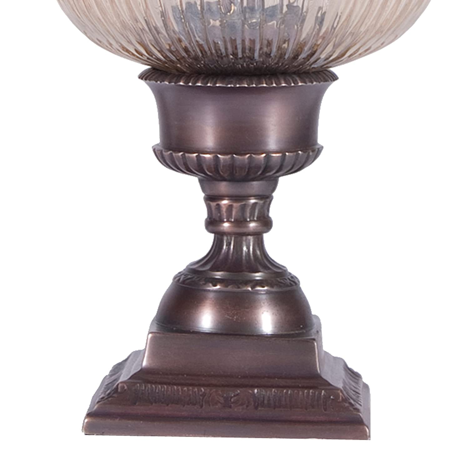 Small Glass Shaded Torchiere Accent Table Lamp   Uplight Table Lamp    Amazon.com