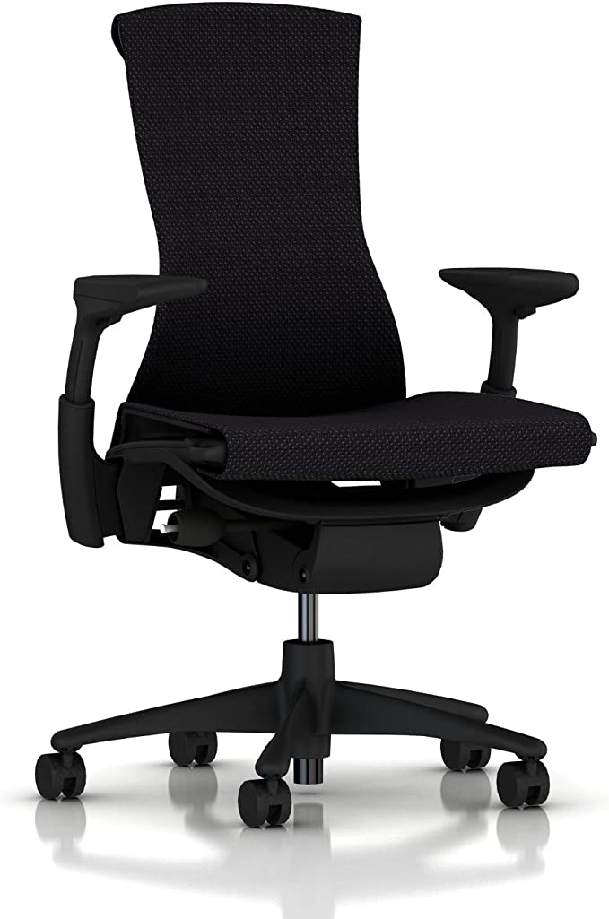 Amazon.com: Herman Miller Embody Ergonomic Office Chair | Fully Adjustable Arms and Carpet Casters | Black Balance: Furniture & Decor
