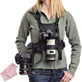Micnova MQ-MSP01 Multi Camera Carrying Chest Harness System Vest with Side Holster & Cleaning Cloth for Canon 6D 600D 5D2 5D3 Nikon D90 Sony A7S A7R A7S2 Panasonic Olympus DSLR Cameras