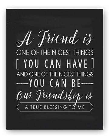 Amazon Com Friendship Gift Friend Quote Sign Unique Friendship
