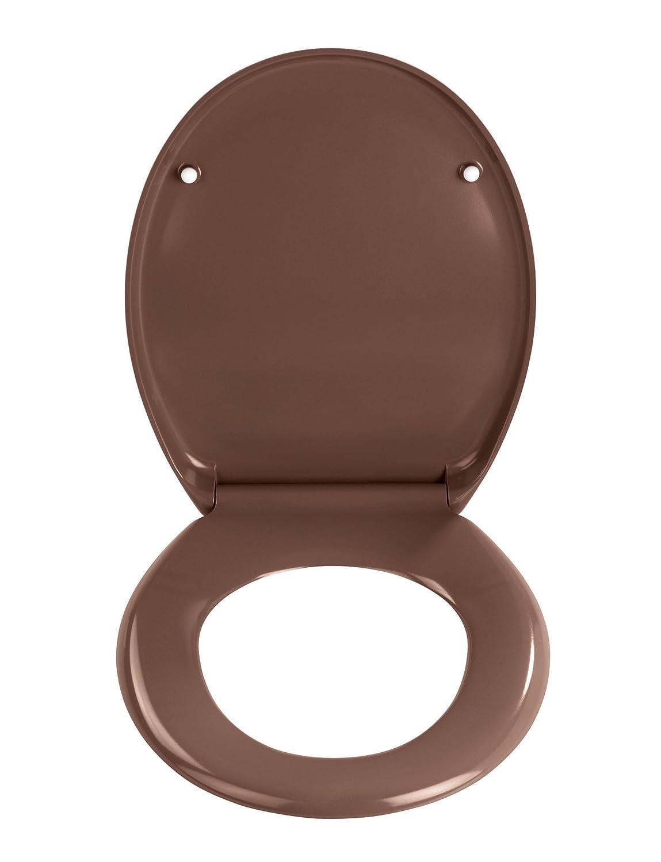 dark brown toilet seat. Wenko 19662100 Premium Ottana Thermoset Plastic Toilet Seat  Dark Brown Amazon co uk Kitchen Home