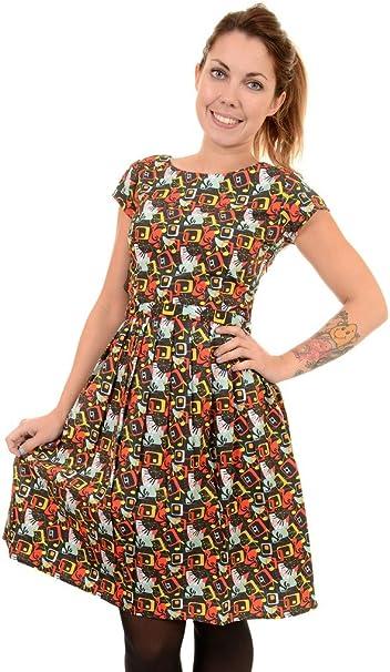 WOMENS RUN /& FLY Indie Retro Vintage 50/'s tea dress style woodland print dress