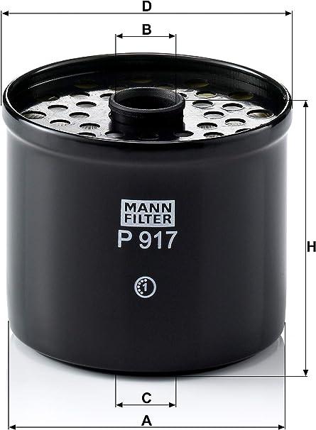 Original Mann Filter Kraftstofffilter P 917 X Kraftstofffilter Satz Mit Dichtung Dichtungssatz Für Pkw Auto