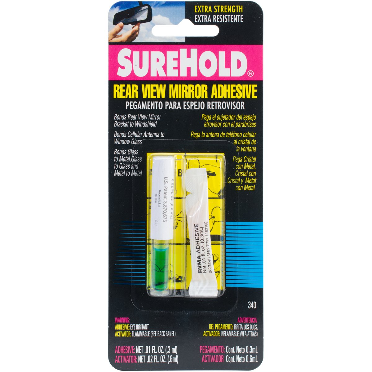 Surehold SH-340 Rear View Mirror Adhesive