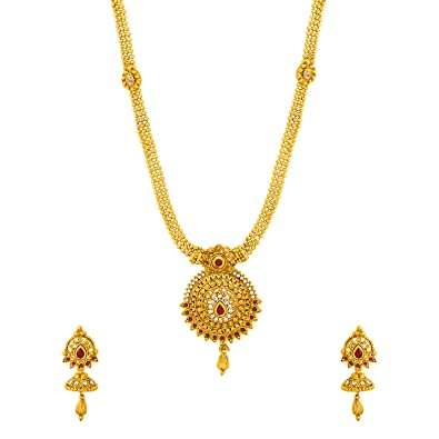 4e58b1f14b1197 Buy Voylla Gold Plated Jewellery Set for Women (8907617434537) Online at  Low Prices in India