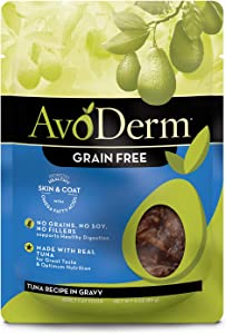 Avoderm Natural Grain Free Tuna Recipe In Gravy Pouch Wet Cat Food, 3-Ounce Pouch, Case Of 24