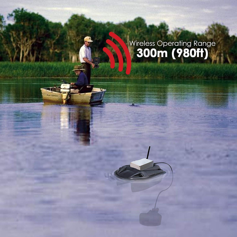 100m Tiefe Angebot LUCKY Kabellos Fisch Finder 328ft 300m// 984ft Betriebs Angebot Remote Steuerung Boot Fischfinder Farbig Monitor