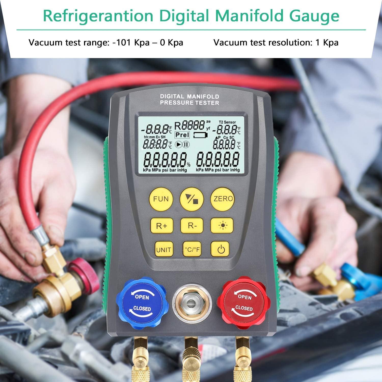 R134 R12 R404. pour R22 FLYWM Manom/èTre R/éFrig/éRation Vide Pression Manifold Testeur Compteur Testeur De Temp/éRature CVC Outil De R/éParation De Climatisation