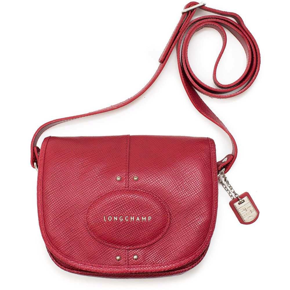 Longchamp Quadri Pink Carmi Print Cross Body Messenger Leather Quadry Bag Handbag Purse New Handbags