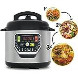 Cecotec Ollas GM Modelo G - Robot de cocina programable multifunción, 90 Kpa, 19 menús, modo ECO, capacidad de hasta 6 litros