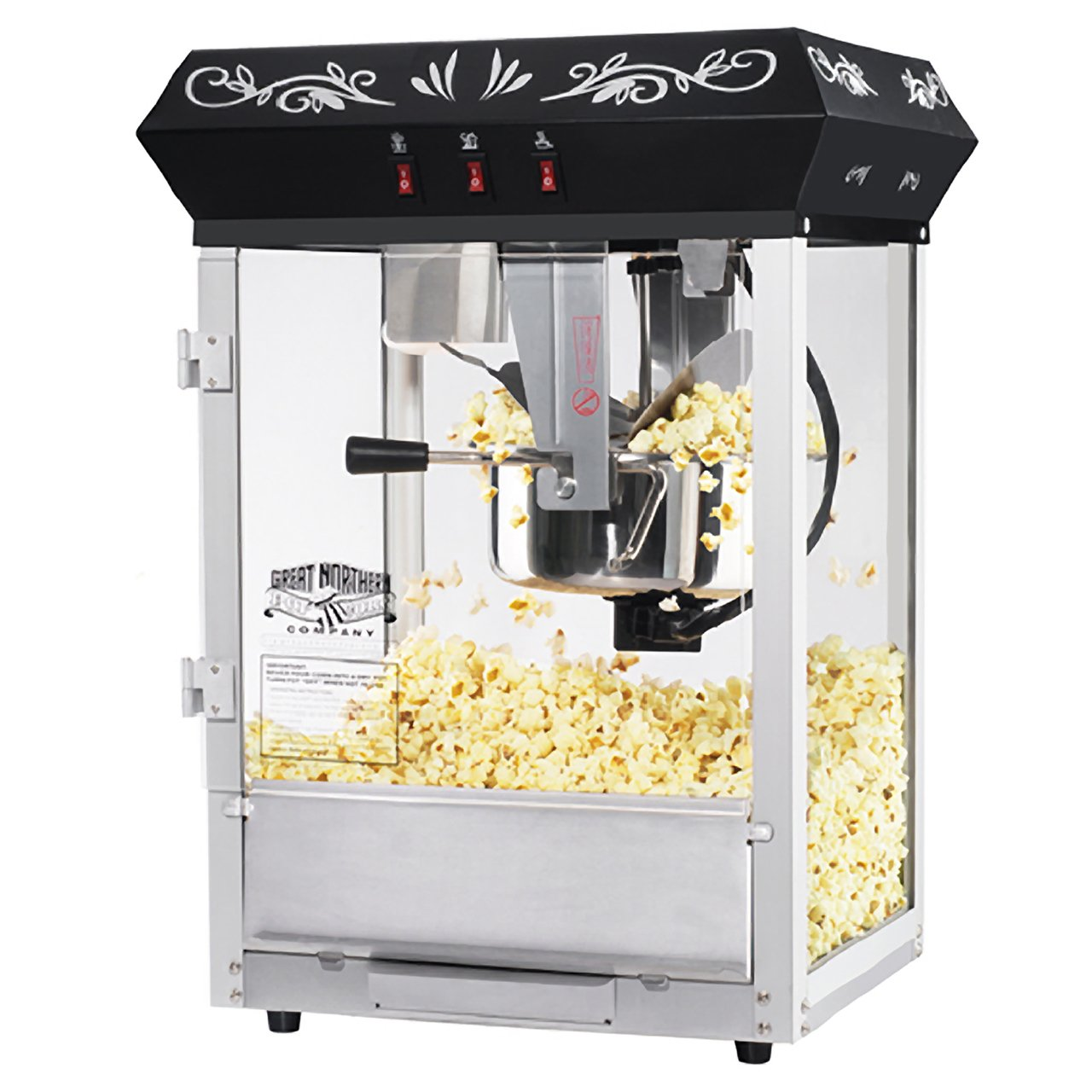 Great Northern Popcorn Black 8 oz. Ounce Foundation Movie Theater Style Popcorn Machine Top by Great Northern Popcorn Company (Image #3)
