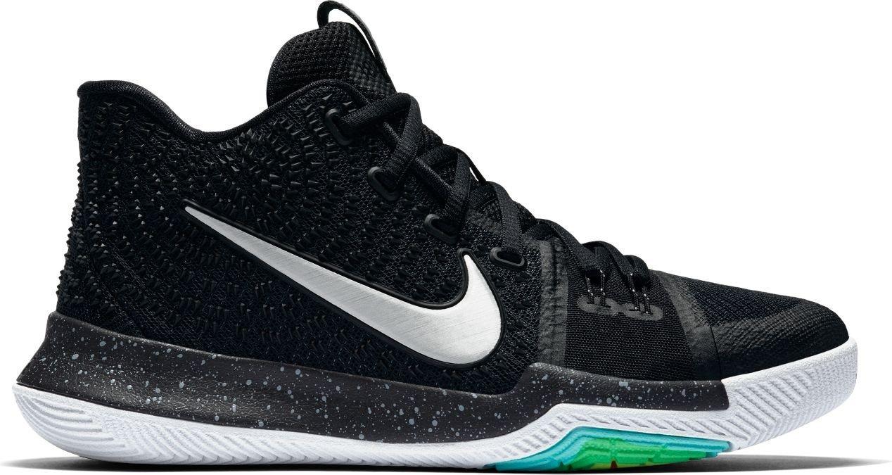 NIKE Boys Kyrie 3 Colorblock Mids Basketball Shoes B01N9PRENM 4.5Y|black