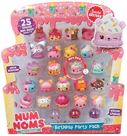 Amazon Com Num Noms Birthday Party 25pc Pack Includes Ultra Rare