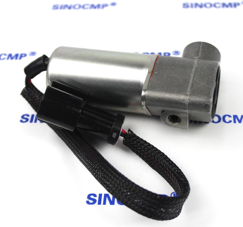702-21-07010 Hydraulic Pump Proportional Solenoid Valve 3 Month Warranty SINOCMP Excavator Solenoids for Komatsu PC220LC-7 PC300-7 PC220LC-6 PC120-6 PC300-6 Excavator Parts