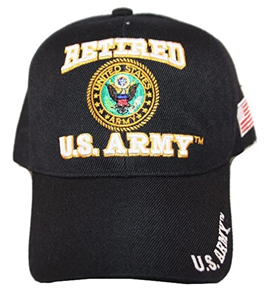3c8a9f2fd0a5f U.S. Army Cap  quot Retired U.S. Army quot  with U.S. Seal in Solid Black