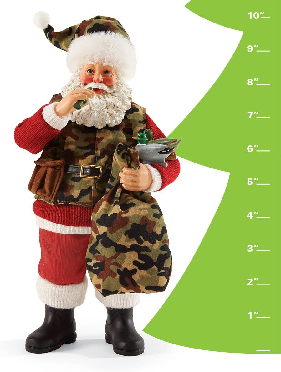 Department 56 Possible Dreams Christmas Camo Claus Santa Figurine