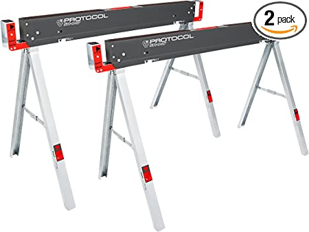 Folding Sawhorses Performance Tool 2 pk HD 900 lb