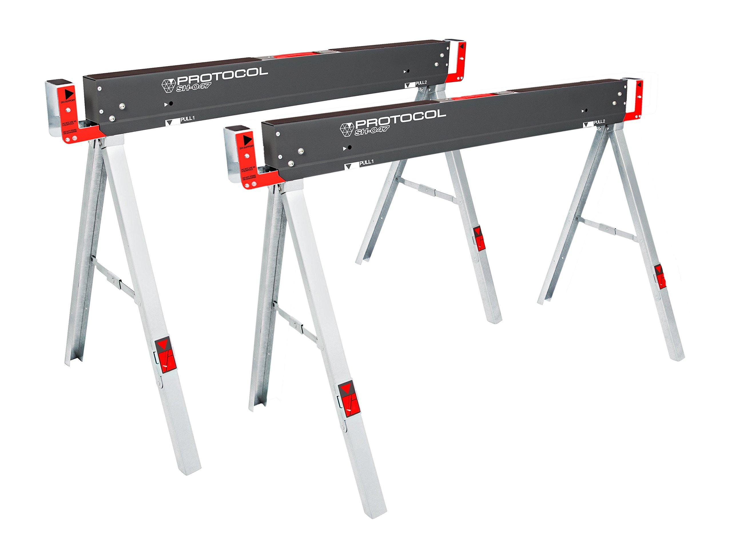 PROTOCOL Equipment 92785 Work Table Folding Sawhorse, Set of 2