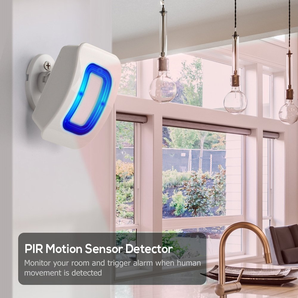 PHYSEN Wireless Door Motion Sensor Alarm,Door Open Chime Detect Alert, Home Security Door Entry Chime with 1 Motion Sensor and 1 Receiver,400ft Range,52 Chimes,4 Volume Levels,Build in LED Indicators by Physen (Image #6)