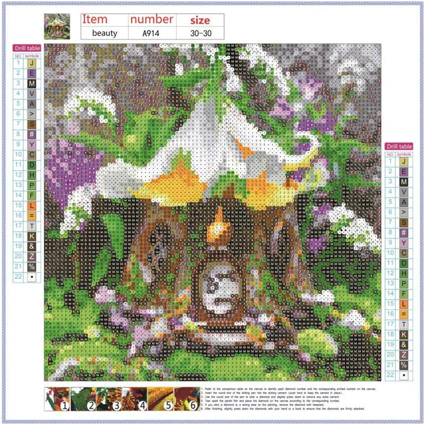 Ywlink Diy Diamond Cartoon 5d30 X 30 Cm Set Of Cross Stitch