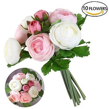 Ultnice Mariage Bouquets Artificiels Camelia Fleurs Mariage