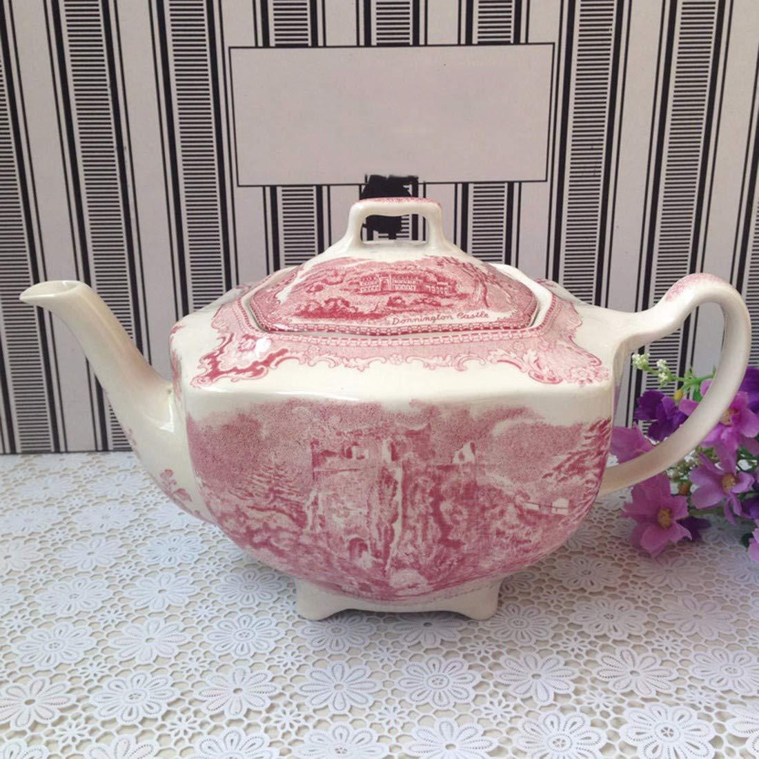 E  QPGGP-vaisselle British rouge Castle Tableware, Western Plats, Tasses de café,b