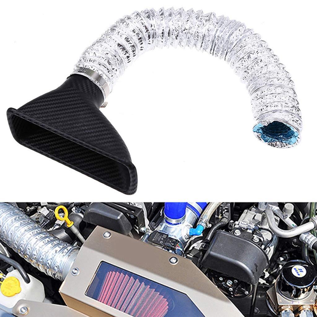 Almencla 3 x Universal Auto Turbo Turbine Einlass Rohr Luft Trichter Kit Kunststoff Aluminiumfolie