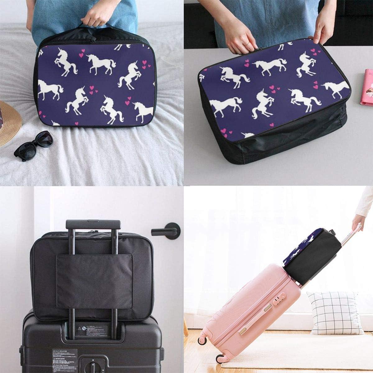 Loving Unicorn Travel Carry-on Luggage Weekender Bag Overnight Tote Flight Duffel In Trolley Handle