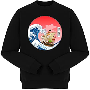 Pulls One Piece Parodique La Grande Vague De Kanagawa Et Le Vogue