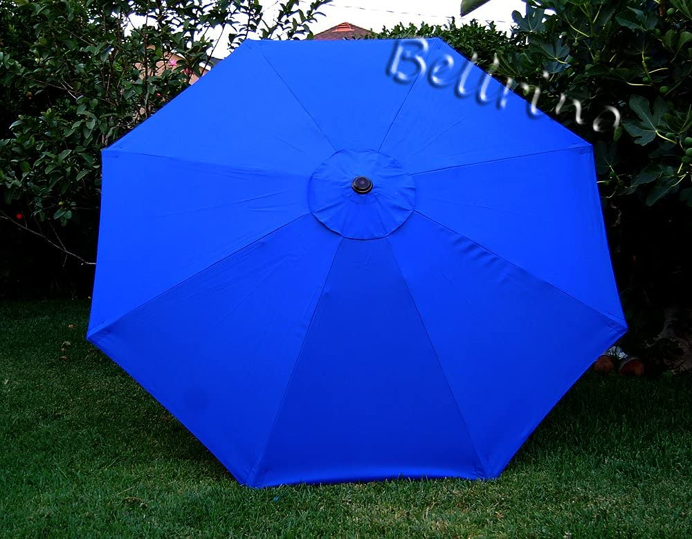 BELLRINO DECOR Replacement Royal Blue Strong & Thick Umbrella Canopy for 10ft 8 Ribs (Canopy Only)