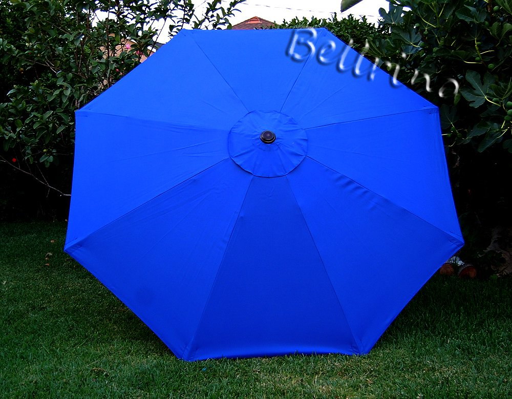 BELLRINO DECOR Replacement ROYAL BLUE STRONG & THICK Umbrella Canopy for 9ft 8 Ribs (Canopy Only)