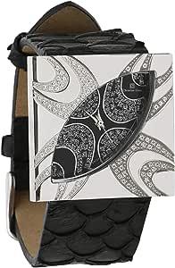 كريستيان جين انالوج بعقارب للنساء - جلد , اسود - 4606LLS-BK