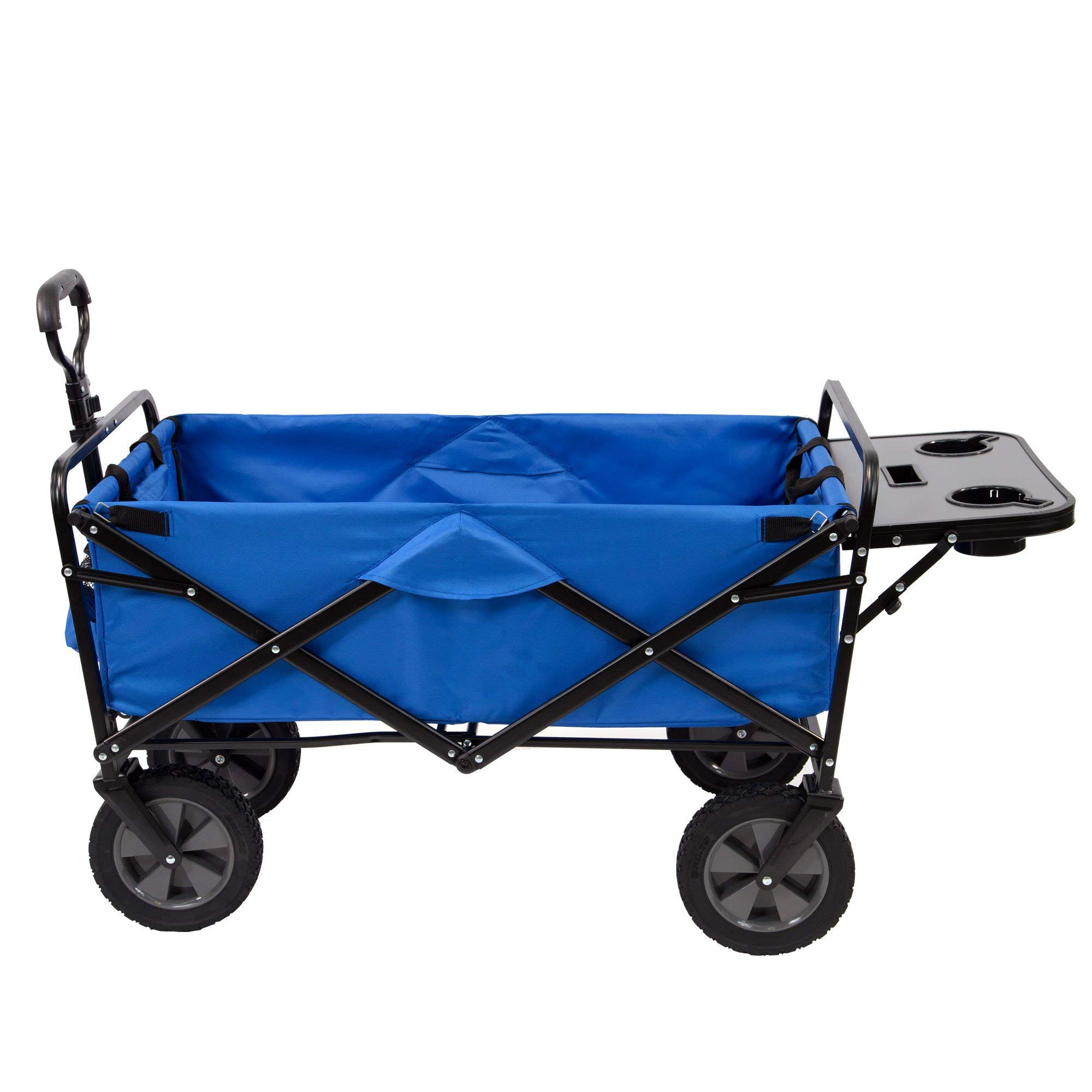Mac Sports Folding Garden Utility Wagon w/Table, Blue by Mac Sports