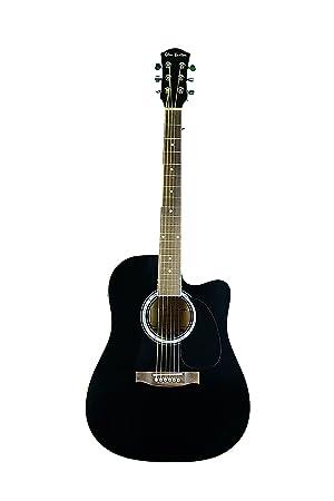 Negro de rosa acústica guitarra eléctrica: Amazon.es: Instrumentos musicales