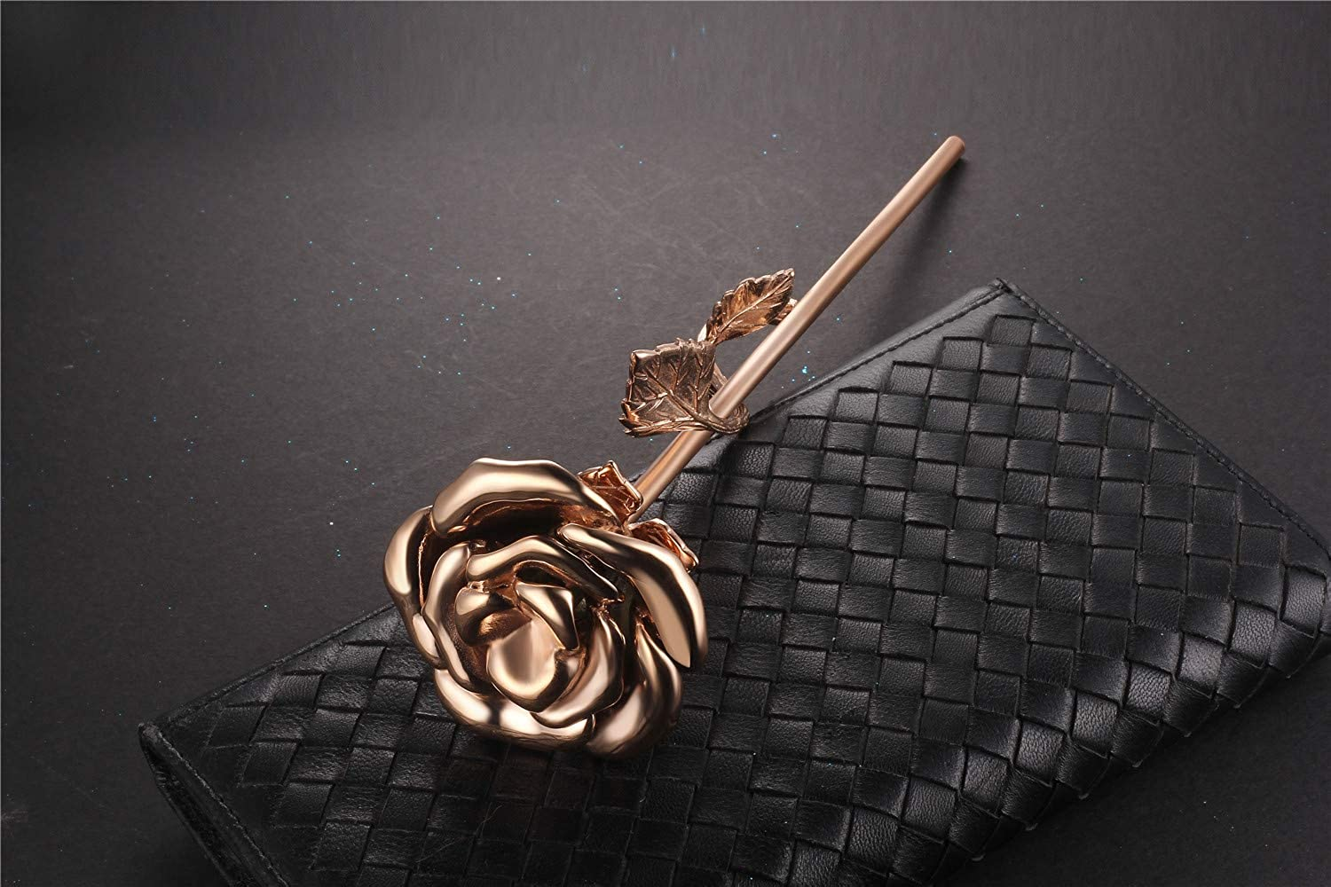 Murinsar Solid Stainless Steel Decorative 3D Rose Flower Branch Cremation Urns for Ashes Human Pet Dog Cat Memorial Keepsake Funeral Ash Container Vessel Decor,Gold,Rose Gold,Silver